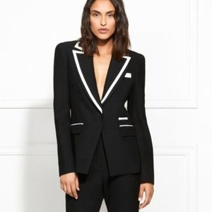 Rachel Zoe Abbie Contrast Piped Suiting Blazer